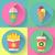 colorido · iconos · de · comida · rápida · aislado · alimentos - foto stock © marysan