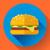 fast · food · ontwerp · stijl · zwarte · Geel · witte - stockfoto © marysan