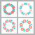 floral frame collection cute retro flowers arranged un a shape of the wreath perfect for wedding in stock photo © marysan