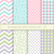 set of seamless patterns in pastel colors for fabric wrapping paper or scrap stock photo © marysan