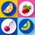 set of flat design icons for fruits stock photo © marysan