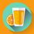 juice glass flat designed style icon stock photo © marysan