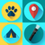 camping hiking icons set flat design style vector stock photo © marysan