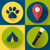 Camping Hiking icons set, flat design style vector stock photo © MarySan