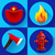firefighter icons elements set stock photo © marysan