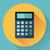 calculator icon with long shadow stock photo © marysan