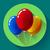 ünnepi · tarka · levegő · léggömbök · ikon · ünnep - stock fotó © marysan