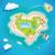 coração · ilha · topo · viajar · turismo - foto stock © MarySan