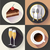 restaurant and food icons set vector flat design style stock photo © marysan