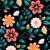 blu · nero · senza · soluzione · di · continuità · abstract · floreale · pattern - foto d'archivio © marysan