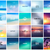 BIG set of 20 square blurred nature backgrounds. With various quotes stock photo © MarySan