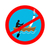 forbidden to smoke on boat red sign prohibiting smoking ban sm stock photo © maryvalery