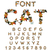 cat font catlike abc letters of cats pet alphabet pets typog stock photo © maryvalery