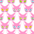 cute pink cat with colored eyes seamless pattern vector backgro stock photo © maryvalery