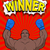 winner in style of pop art african american boxer wearing blue stock photo © maryvalery