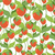 fruity strawberry texture vector seamless pattern of red berrie stock photo © maryvalery