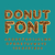 donut font pie alphabet baked in oil letters chocolate icing stock photo © maryvalery
