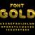 gold font abc of gold precious metal alphabet yellow iridesce stock photo © maryvalery