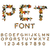 pet font cat alphabet letters of cats pets typography stock photo © maryvalery