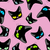 black cat pink background seamless pattekrn vector background stock photo © maryvalery
