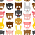 skulls animal seamless pattern background for halloween snout stock photo © maryvalery