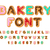 Bakery font. Donut ABC. Baked in oil letters. Chocolate icing an stock photo © MaryValery