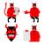 vermelho · desenho · animado · monstro · ranzinza · assustador - foto stock © maryvalery