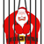 Santa Claus gangster. Christmas in prison. Window in prison with stock photo © MaryValery