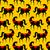 zwarte · paard · rapper · gekleurd · cartoon · illustratie - stockfoto © maryvalery