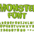 monster font green scary letters vector alphabet live abc stock photo © maryvalery