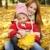 madre · hija · otono · amarillo · parque · nina - foto stock © massonforstock