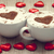 two cup of coffee with heart symbol and candy around stock photo © massonforstock