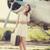одиноко · девушки · чемодан · самолет · фото · старые - Сток-фото © massonforstock