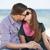 para · całując · plaży · niebo - zdjęcia stock © massonforstock