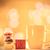 copo · café · chá · macarons · caixa · de · presente · outono - foto stock © Massonforstock