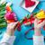 női · kezek · tart · tulipán · virág · csomagolás - stock fotó © massonforstock