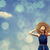 kız · bahar · mavi · gökyüzü · gökyüzü · moda - stok fotoğraf © massonforstock