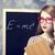 redhead student near blackboard stock photo © massonforstock