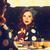 улыбающаяся · женщина · шкатулке · домой · люди · праздников · празднования - Сток-фото © massonforstock