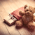 cute gift teddy bear and cool red shopping bag on the wonderful stock photo © massonforstock