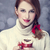 redhead girl with red coffee cup st valentine day stock photo © massonforstock
