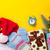 karácsonyfa · ébresztőóra · ajándékok · karácsony · fából · készült · hó - stock fotó © massonforstock