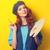 少女 · パレット · ブラシ · 肖像 · 美しい · 赤毛 - ストックフォト © Massonforstock