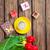 tulipanes · taza · café · maravilloso · marrón - foto stock © massonforstock