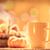 abóbora · cesta · maçãs · copo · café · chá - foto stock © Massonforstock