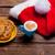 csésze · kávé · tányér · tele · sütik · gyönyörű - stock fotó © massonforstock