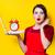 ev · kadını · kırmızı · zencefilli · çörek · portre · genç - stok fotoğraf © massonforstock