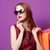 mujer · vestido · rojo · compras · venta · regalos - foto stock © massonforstock