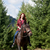redhead girl with horse stock photo © massonforstock