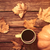 cup of coffee and pumpkin stock photo © massonforstock